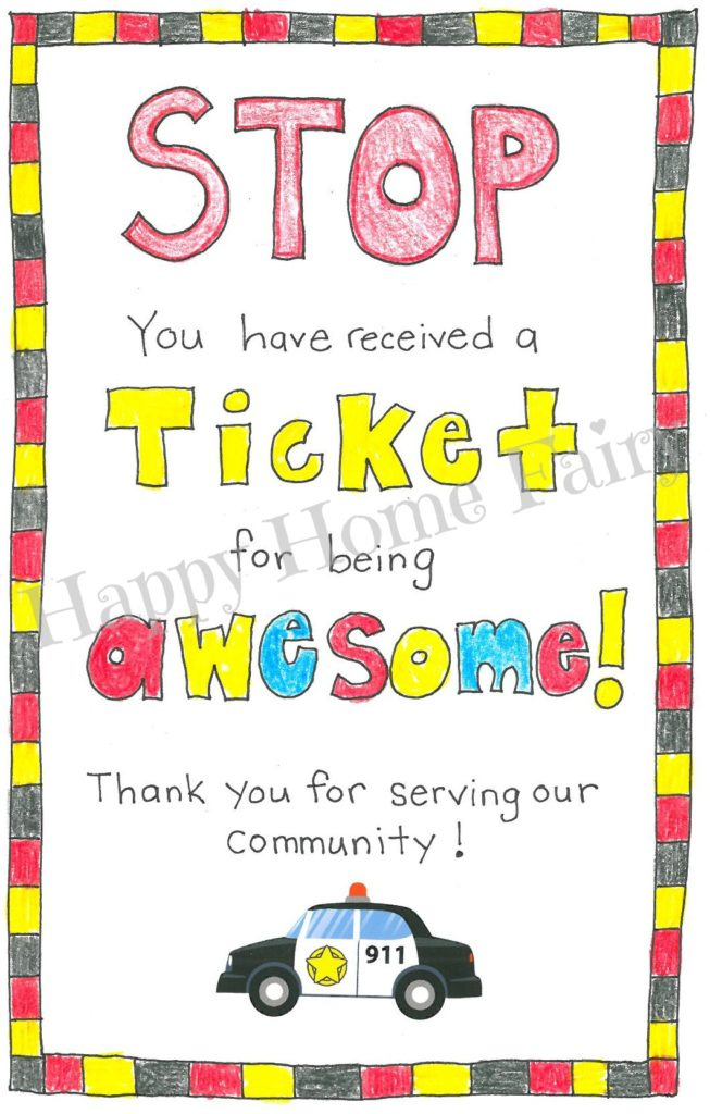 How to Thank a Police Officer - FREE Printable! - Happy