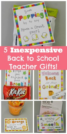 5 Inexpensive Back to School Gifts for Teachers – FREE Printables!