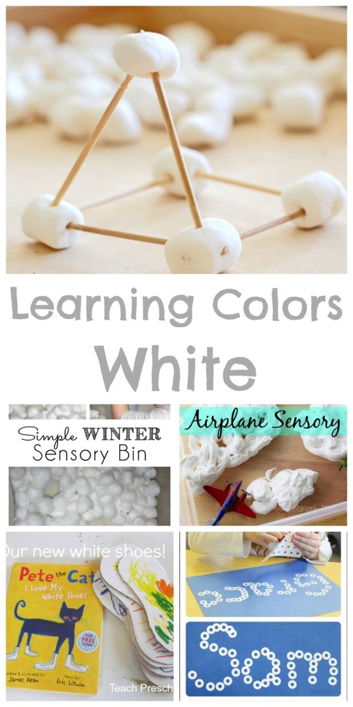 Learning Colors - WHITE! So many great ideas for preschoolers! Books, crafts, and activities!