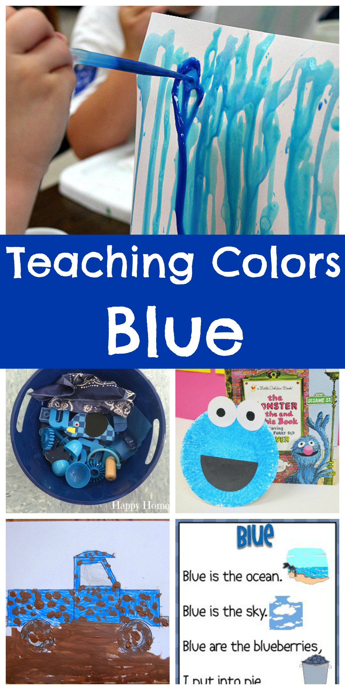 Teaching Colors - Blue - Happy Home Fairy