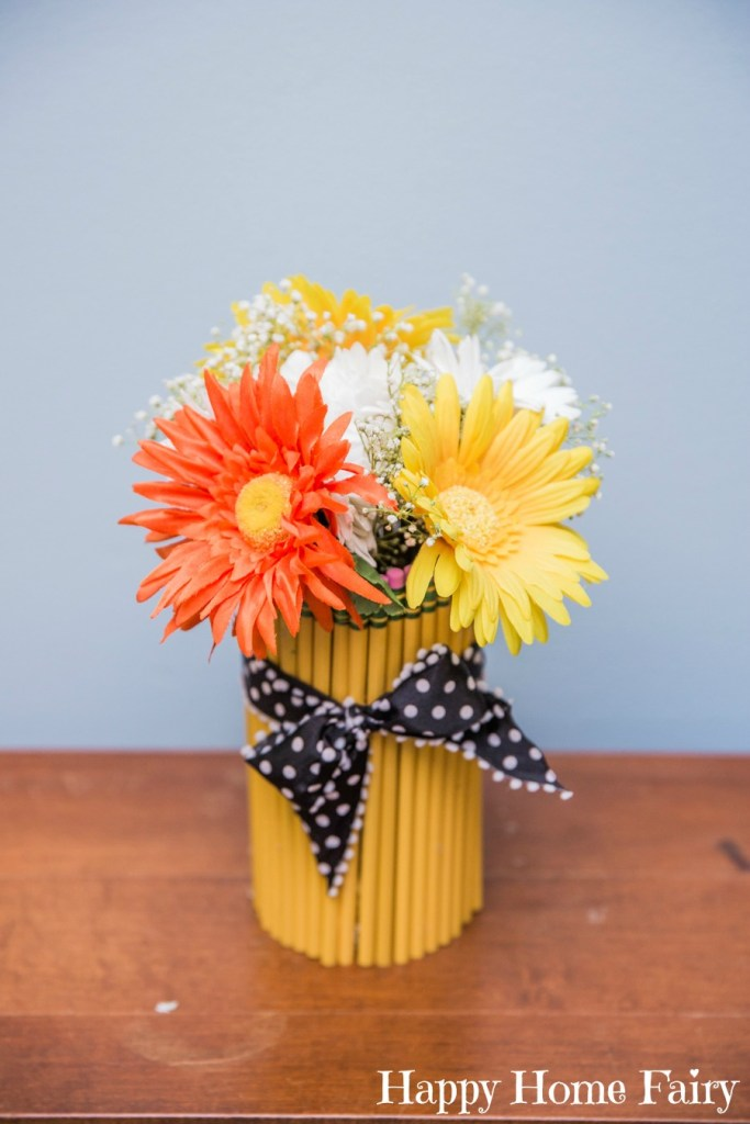 preschool welcome center pencil vase