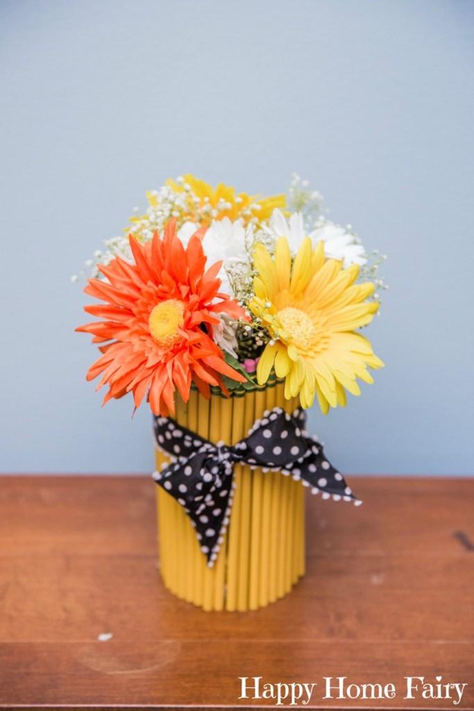 preschool welcome center pencil vase