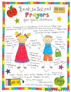 Back to School Prayers For Your Kids – FREE Printable