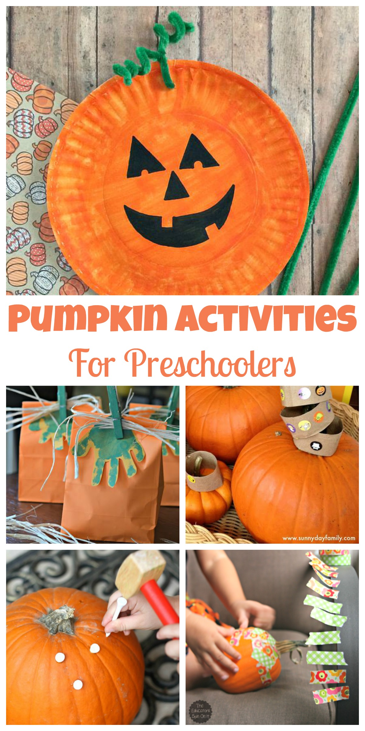 Easy Pumpkin Activities For Preschoolers