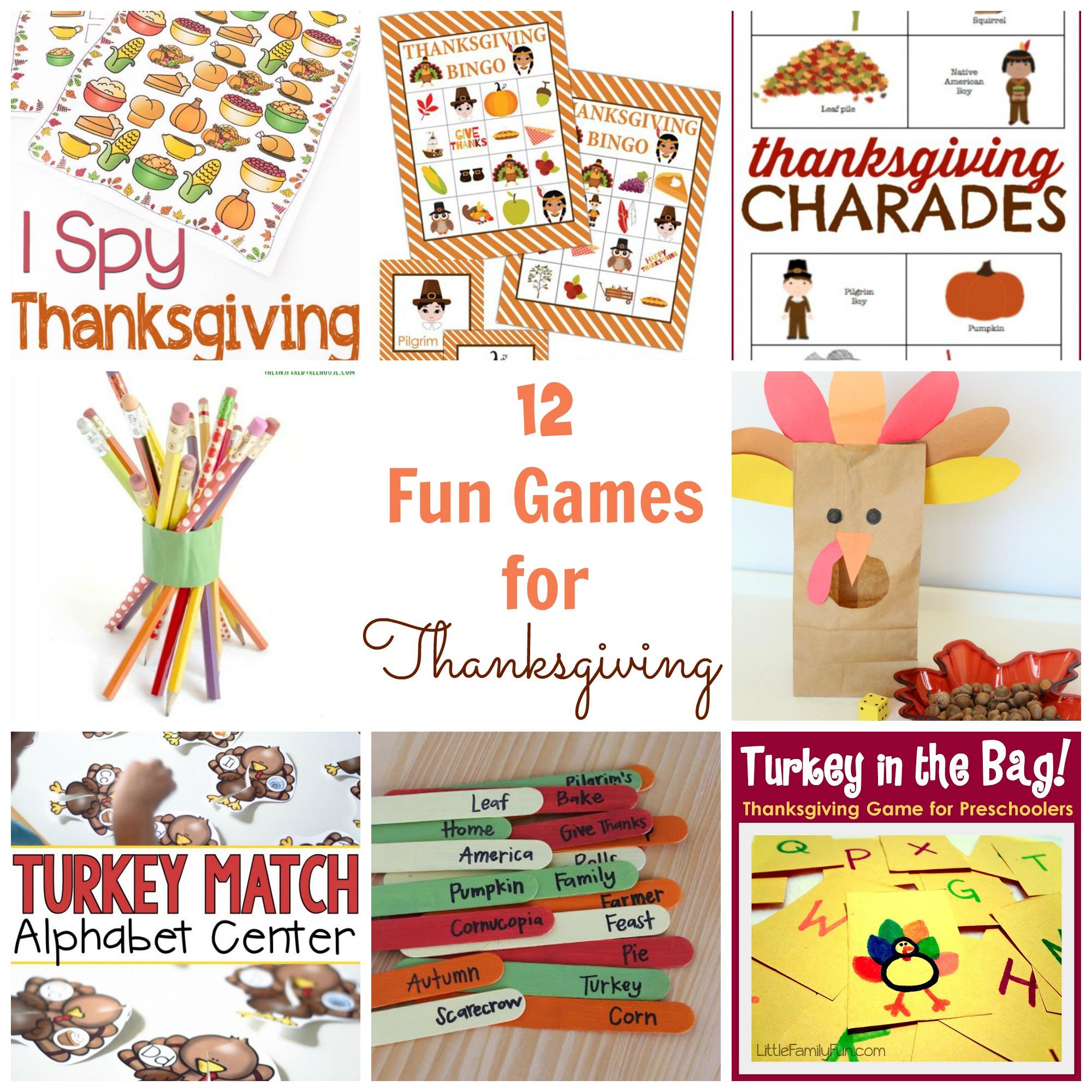 12 Fun Thanksgiving Games