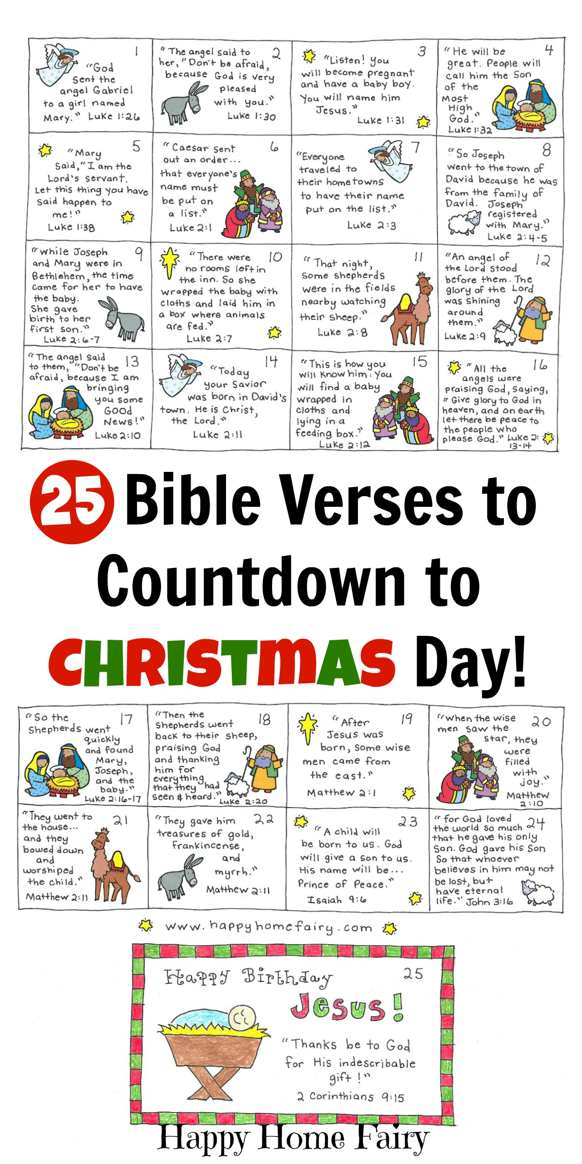 Bible Verse Advent Countdown For Kids