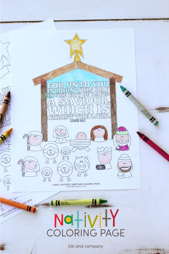 Nativity crafts and activities kids happy home fairy, jesus love coloring pages