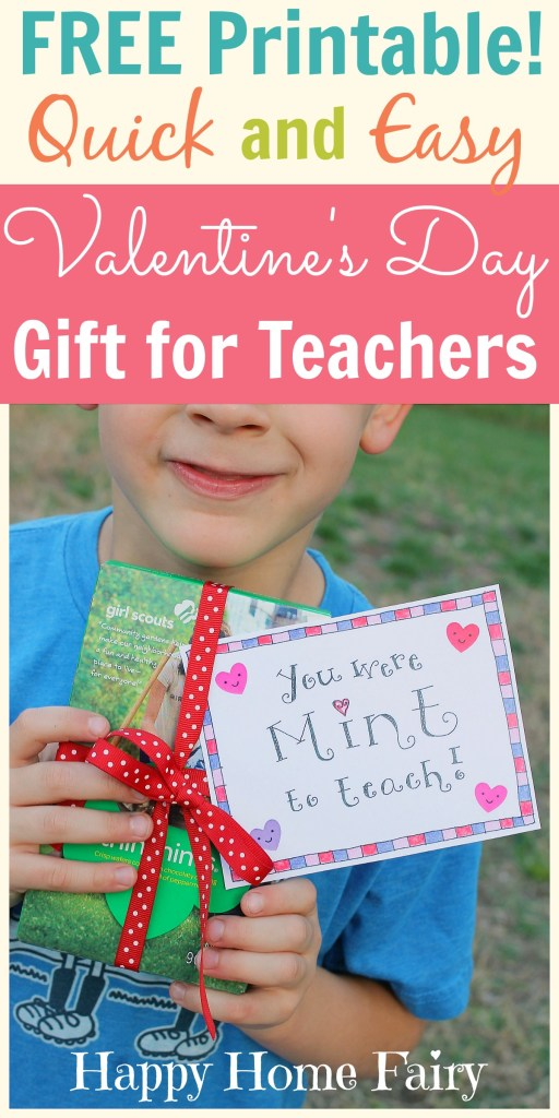Love Girl Scout Thin Mint Cookies And Your Childs Teacher Check Out This Free Printable