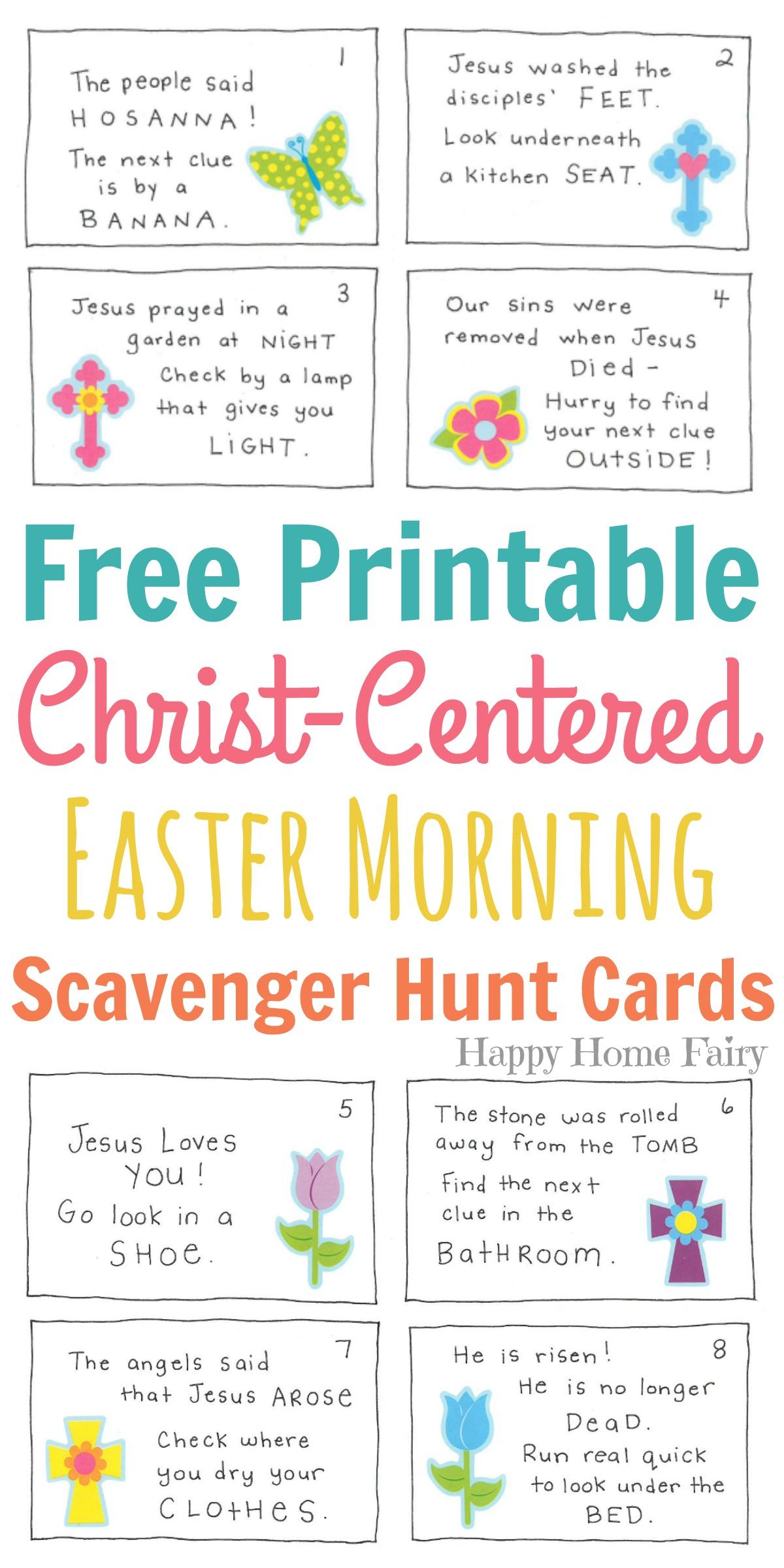 image about Scavenger Hunt Printable titled Christ-Based Easter Early morning Scavenger Hunt for