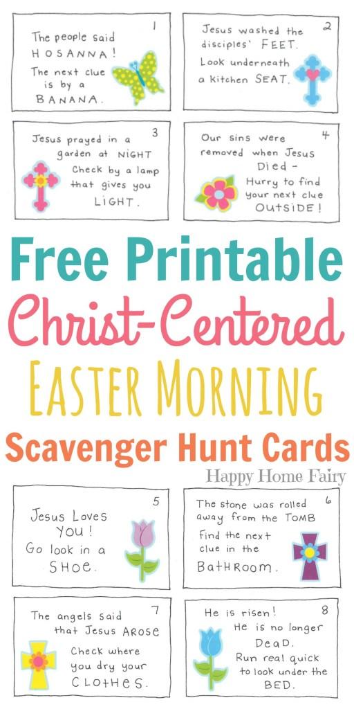 Christ-Centered Easter Morning Scavenger Hunt for Preschoolers ...