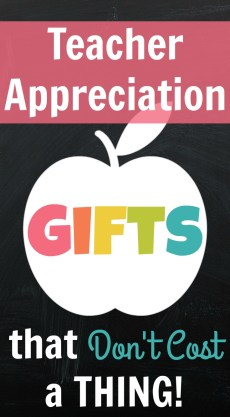 10 Teacher Appreciation Gifts that Don't Cost a Thing