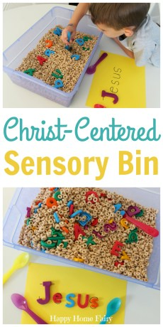 Easy Christ-Centered Sensory Bin and Activity