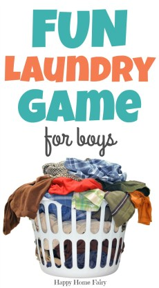 Fun Laundry Game for Boys