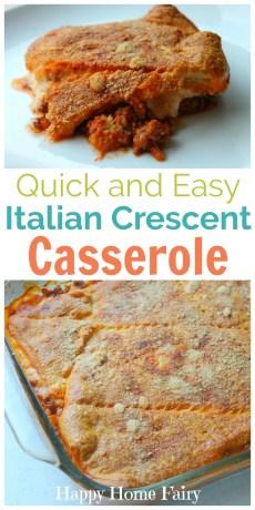 Recipe – Italian Crescent Casserole