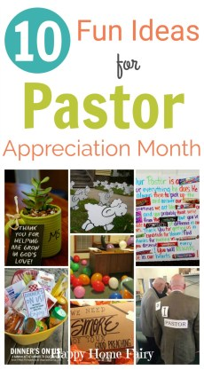 10 Fun Ideas for Pastor Appreciation Month