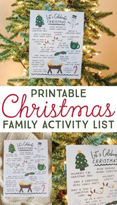Christmas Activity List – FREE Printable!