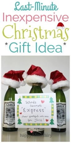 Last-Minute Inexpensive Christmas Gift Idea – FREE Printable