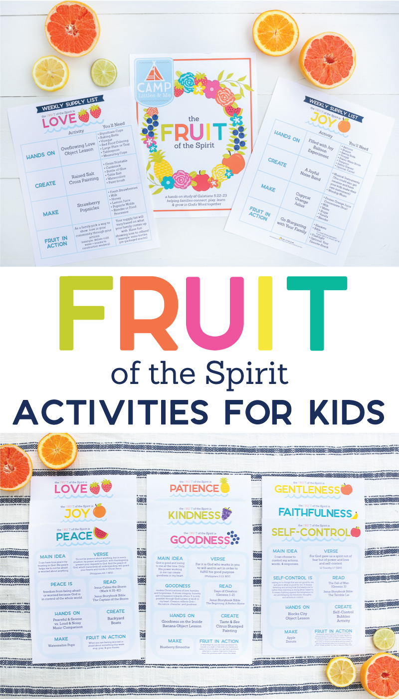 Looking for ways to point your kids to Jesus? This Fruit of the Spirit pack is full of simple ideas to teach kids about the Fruit of the Spirit in an engaging way. It's a hands on study of Galatians 5:22-23 that's aimed to help your family connect, play, learn, and grow in God's Word together.