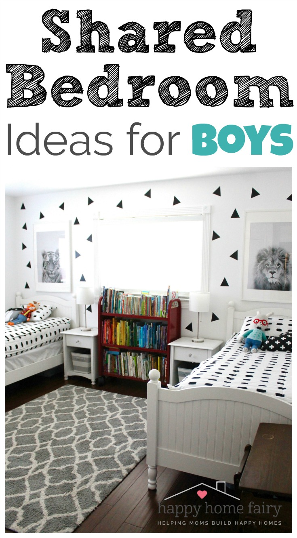 Shared Bedroom Ideas for Boys - Happy Home Fairy