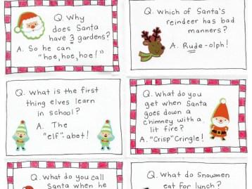 FREE Printable Christmas Joke Cards
