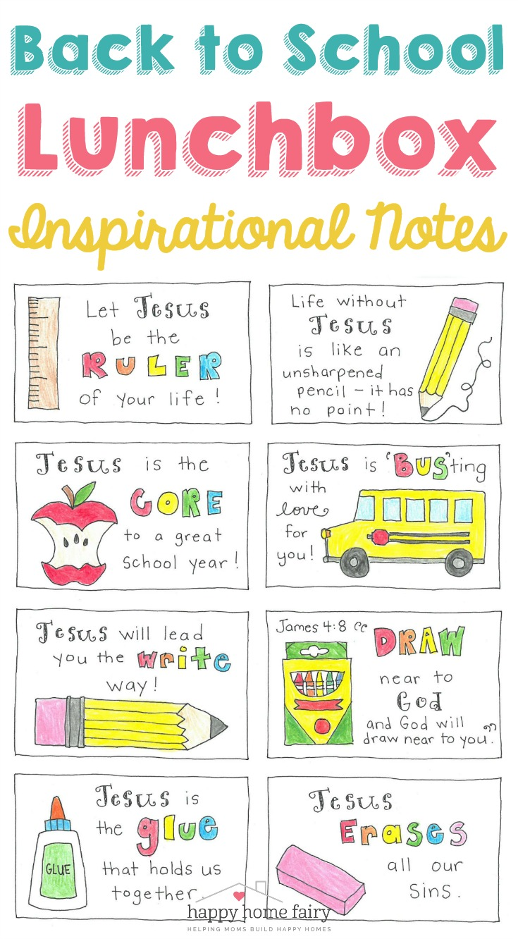 photo about Printable Lunchbox Notes named Inspirational Again in the direction of College Lunch Box Notes - No cost