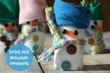 adorable toilet roll snowman craft