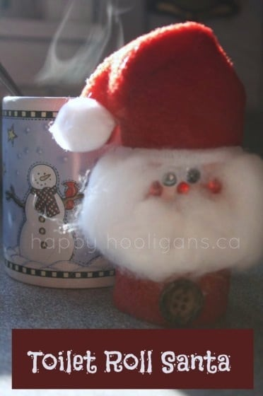 Toilet Roll Santa Ornament For Kids Happy Hooligans