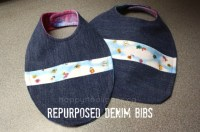 How To Make Bibs From Old Jeans And Tee Shirts | Autos Post
