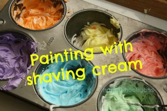 Painting With Shaving Cream Awesome Sensory Playart