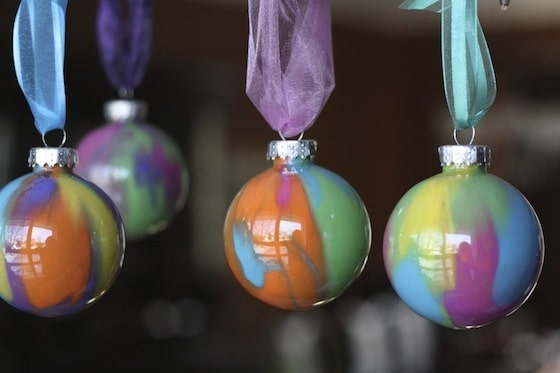 Painting Christmas Ornaments With Alcohol Ink