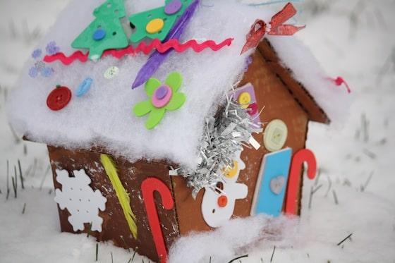 Cardboard Gingerbread House Happy Hooligans