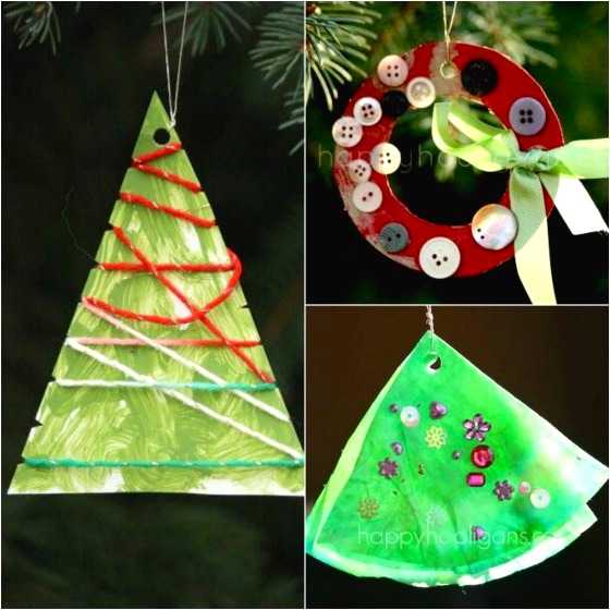 easy christmas ornaments for toddlers to make
