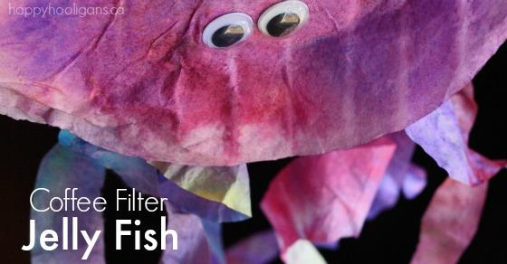 Coffee Filter Jellyfish Craft  Happy Hooligans