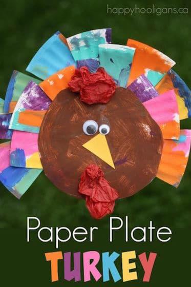 Painted Paper Plate Turkey Craft Happy Hooligans