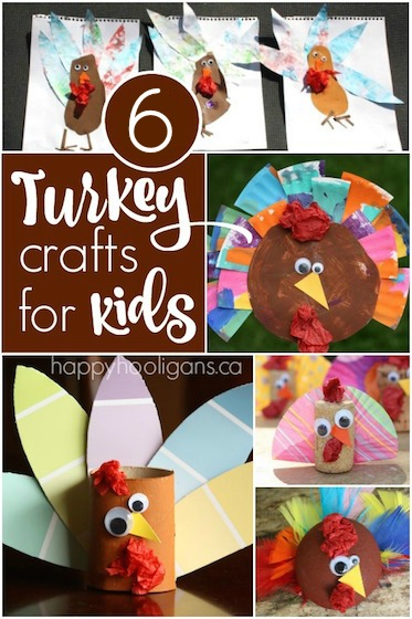 6 Turkey Crafts for Toddlers and Preschoolers  Happy