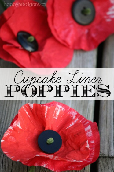 Painted Cupcake Liner Poppy Craft Happy Hooligans