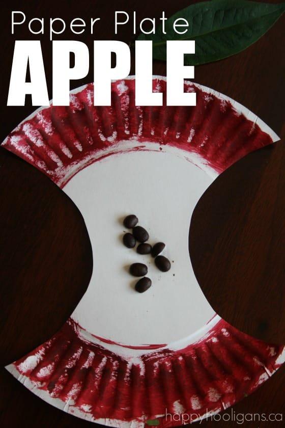 Paper Plate Apple Craft For Preschoolers  Happy Hooligans