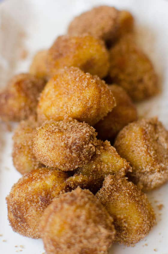 close up french toast nuggets
