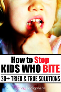 how to stop a child who bites
