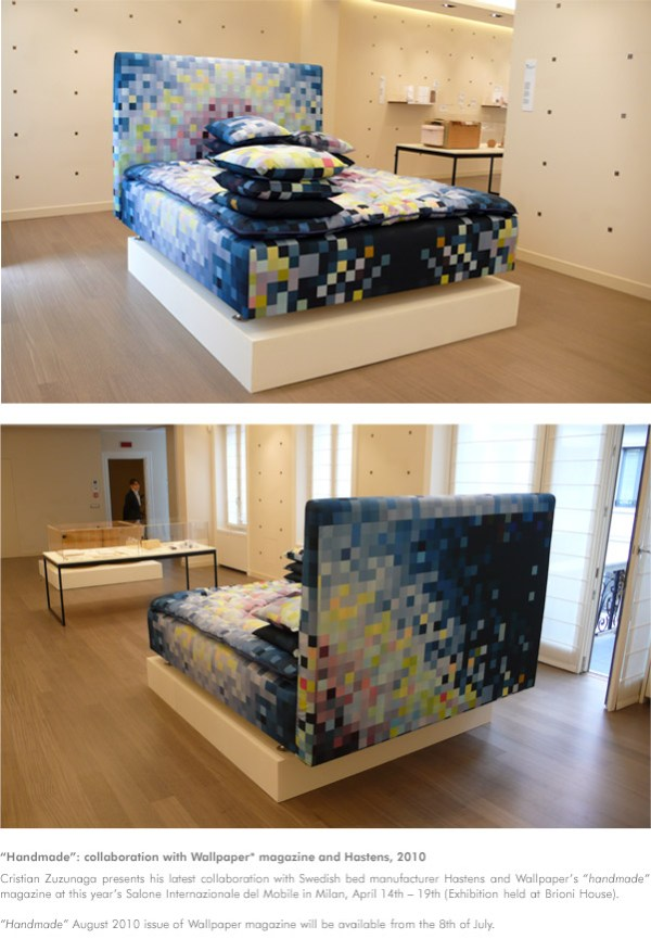 Christian Zuzunaga Pixelated Bed