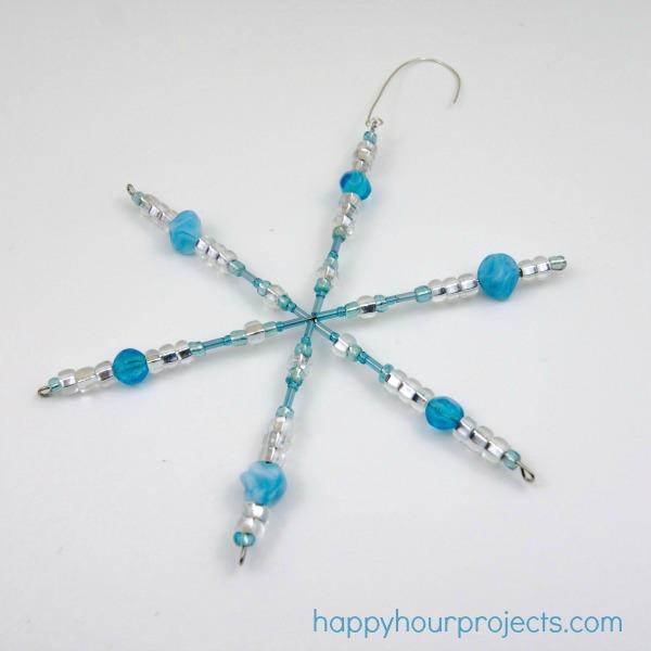 Easy Beaded Snowflake Ornaments With MyFavoriteBloggers