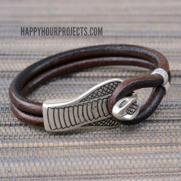 Easy DIY Snake Clasp Leather Bracelet Happy Hour Projects