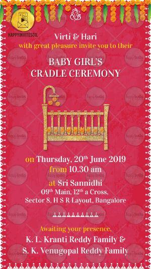 Barse Invitation Card In Marathi : barse, invitation, marathi, Indian, Cradle, Ceremony, Invitation, Happy, Invites
