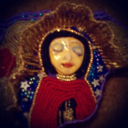 Day 5 A detail of a small little beaded doll I made