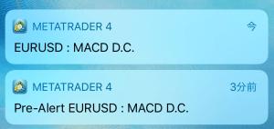 MACDcrossサインプッシュ通知