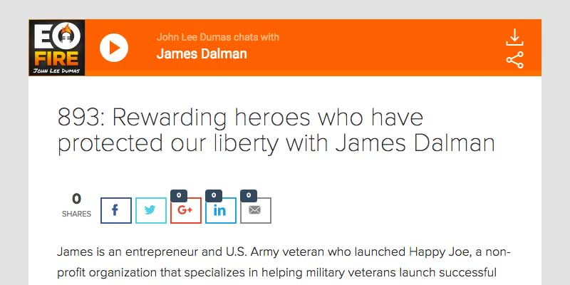 James Dalman Entrepreneur on Fire