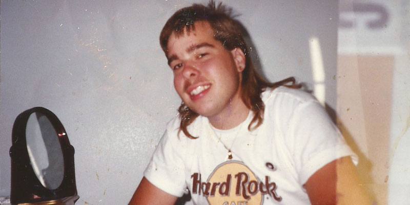 James Dalman Teen Mullet