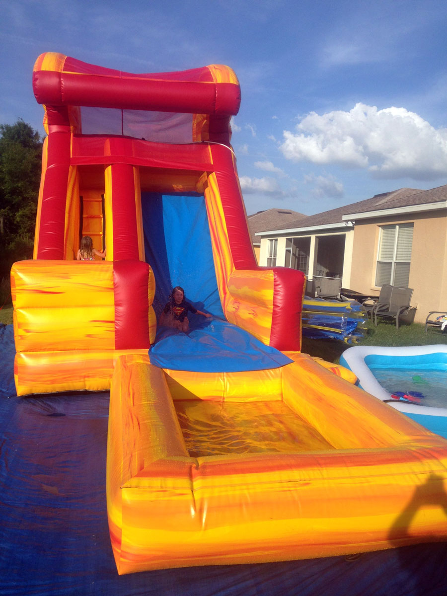 Water Slides and Wet Combos  Happy Kids Inflatables