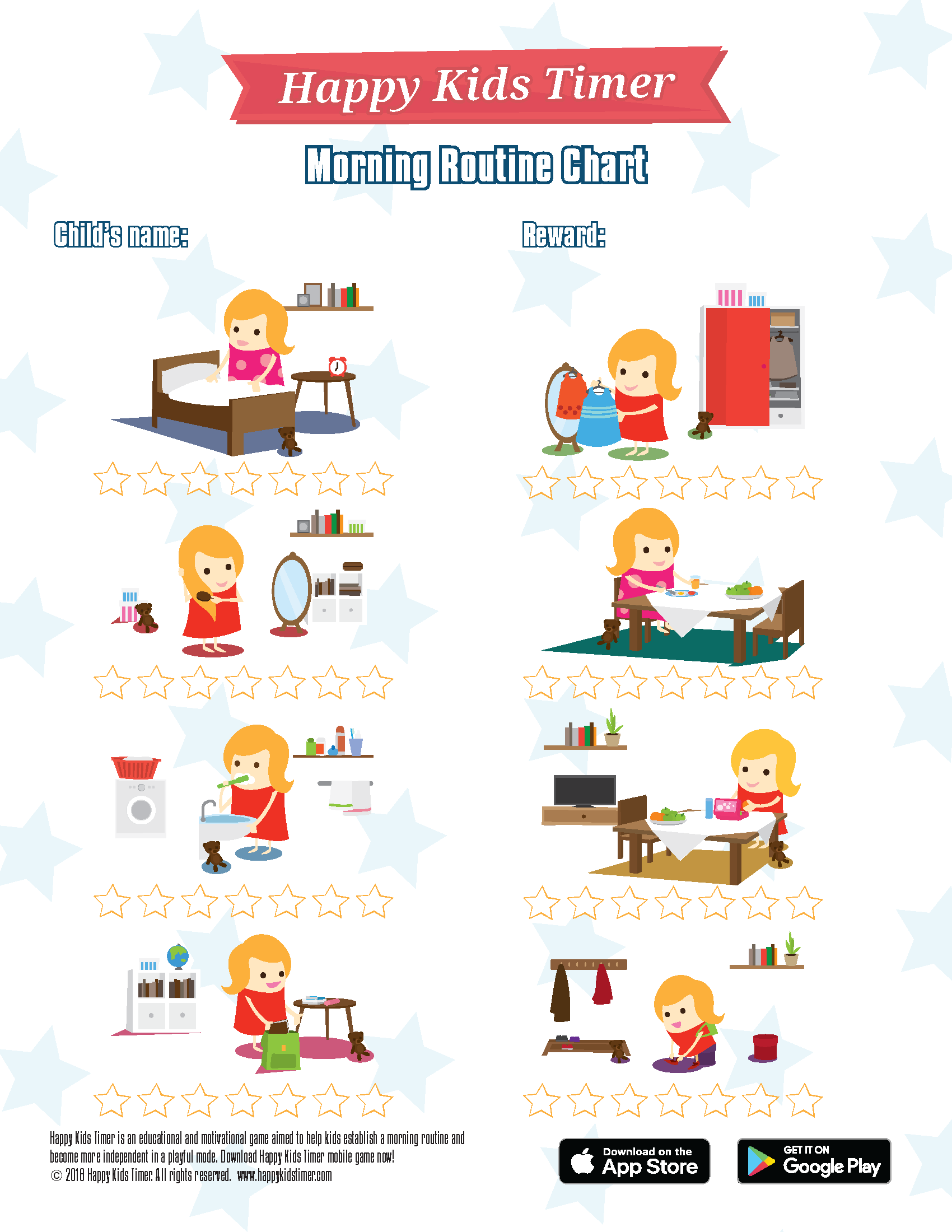 Download Free Printable Morning Routine Chart
