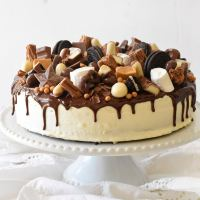 עוגת ממתקים ליומולדת הכי שמח